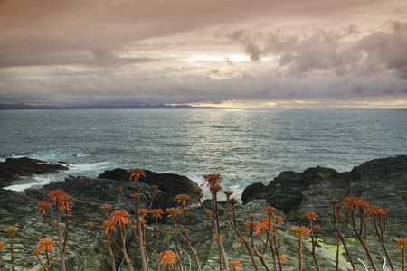 cantabrian: Sunset on the Cantabrian coast of Spain