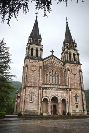 covadonga: Sanctuary of Covadonga, Asturias, Spain Stock Photo