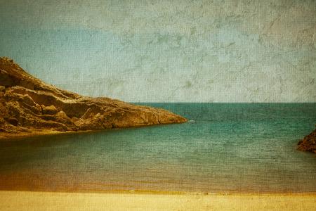 cantabrian: Lonely beach on the Cantabrian coast ( Spain ) Stock Photo