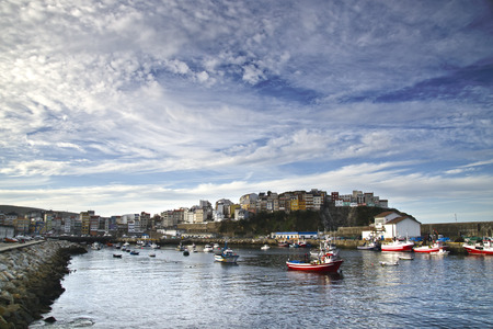 shrimp boat: Shot of fishing port located Galicia (Spain)