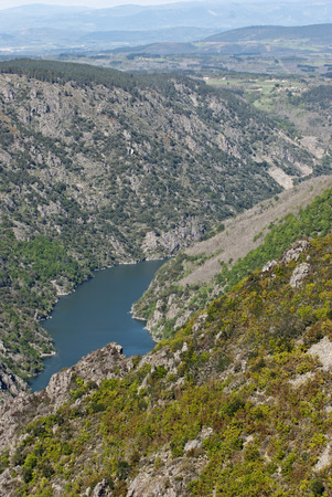 orense: The Sil river canyon in Galicia , Spain