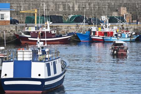 Shot of fishing port located Galicia (Spain) photo