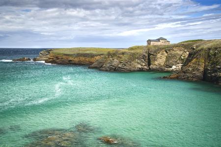 Catholic Hermitage in the coast of Galicia