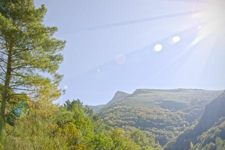 Mountain landscape in summer, Galicia (Spain)