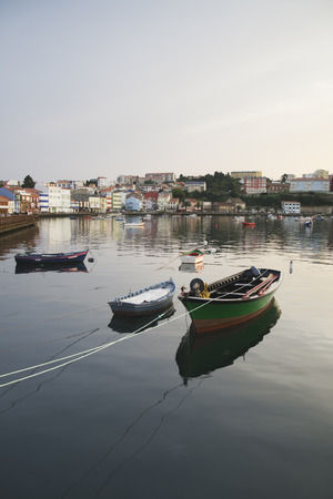 industry moody: Shot of fishing port located Galicia (Spain)