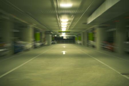 Underground car park in Spain photo
