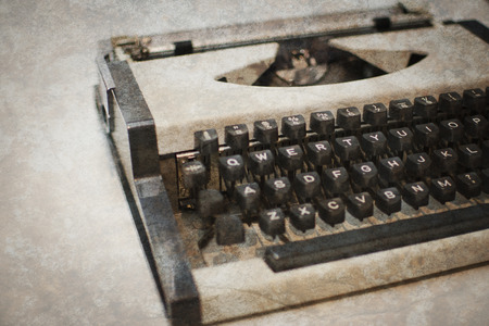 Typewriter with vintage texture. photo