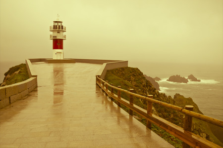 Ortegal lighthouse in Galicia, Spain. photo