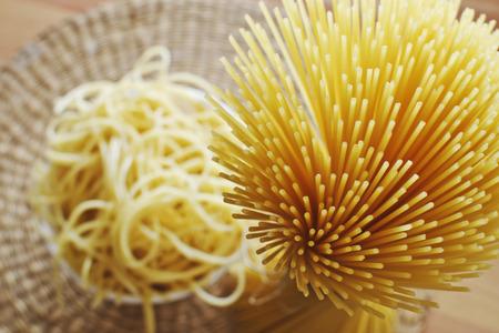 definite: Spaghetti-no sauce, in a bowl