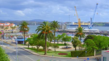 definite: Panoramic view of Ferrol, Spain. Stock Photo