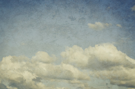 definite: Shot of white clouds on blue sky. Stock Photo