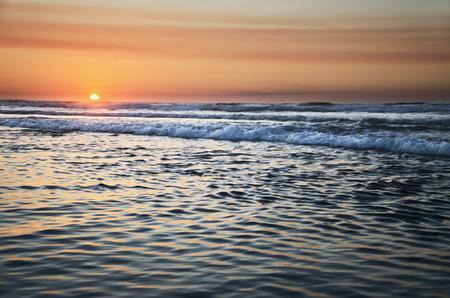 atlantic: Sunset on atlantic coast in spain.