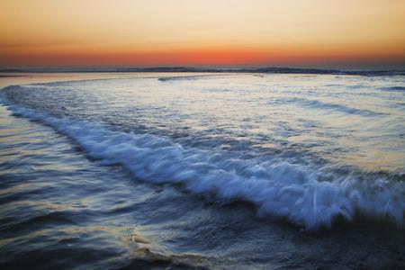 definite: Sunset on atlantic coast in spain.