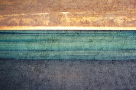 definite: Abstract sunset on the coast. Stock Photo