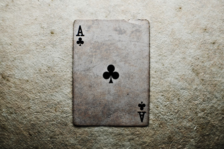 ace of clubs: Poker card - ace of clubs.