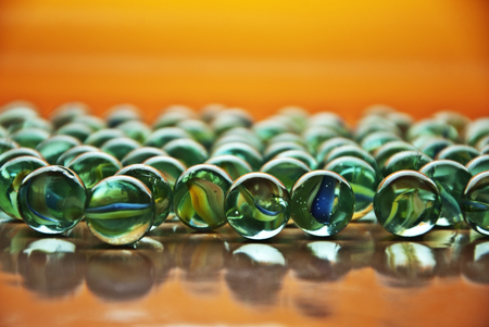 cloesup: A few marbles as close-up. Stock Photo