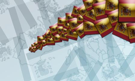 spanish flag: Spanish  Multiple flag.