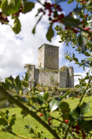 Andrade castle in pontedeume, Galicia