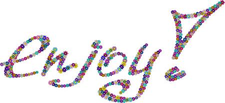 amaranthine: flowered enjoy sign Illustration