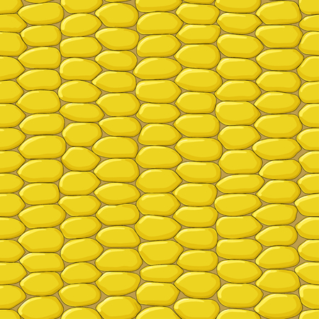 agriculture wallpaper: Seamless vector ripe corn texture Illustration