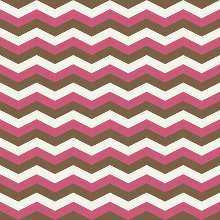 zig zag: Pink and brown zig zag seamless pattern Illustration