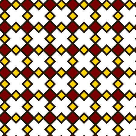 tiles floor: floor tiles pattern, white yellow and red, seamless