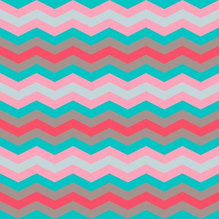 zig zag: five pastel colors zig zag seamless pattern Illustration
