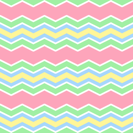 zig zag: five pastel colors zig zag seamless pattern Illustration