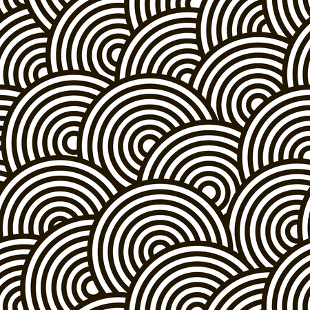 contrast: High contrast circles, seamless pattern