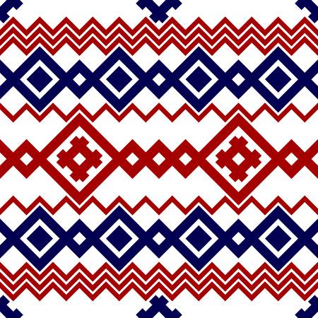 pagan: Embroidery or knit pagan slavic tribal ethnic seamless pattern.