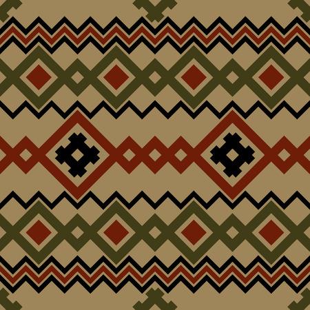 pagan: Embroidery or knit pagan slavic estonian skandinavian norwegian russian ukrainian tribal ethnic folk seamless pattern.