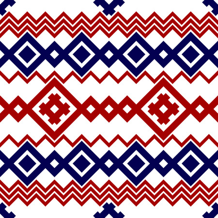 slavonic: Embroidery or knit russian and ukrainian national seamless pattern