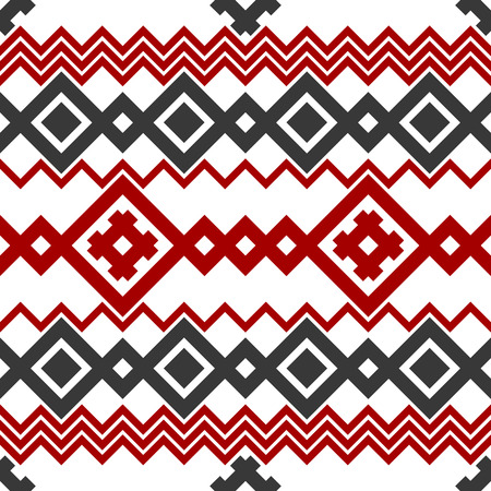 ethno: Embroidery or knit russian and ukrainian national seamless pattern.