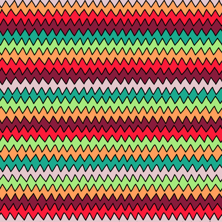 zag: Bright multicolor hand drawn zig zag seamless pattern for textile or background