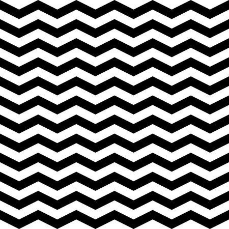 zig zag: Abstract zig zag chevron seamless pattern, black and white background