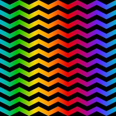 Rainbow color geometric zig zag seamless pattern for textile or background