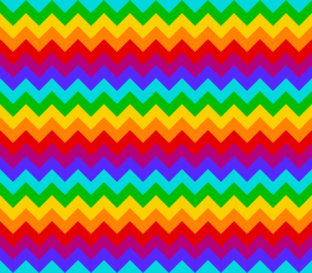 Rainbow color geometric chevron or zig zag seamless pattern for textile or background