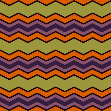 zig zag: Bright multicolor chevron or zig zag seamless pattern for textile and backgrounds