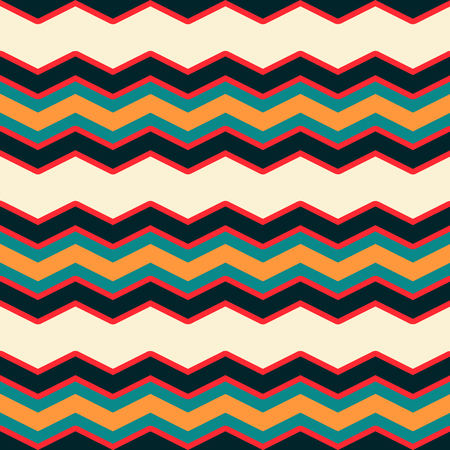 Bright multicolor chevron or zig zag seamless pattern for textile and backgrounds