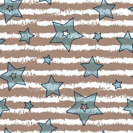 backgrouns: Stars and stripes seamless texture for wraping paper, backgrouns and textile, vanilla coffee and mint colors.