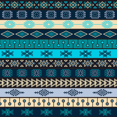 Tribal multicolor knitted seamless pattern. indian or african ethnic patchwork style. image for textile, decorative background, wrapping paper