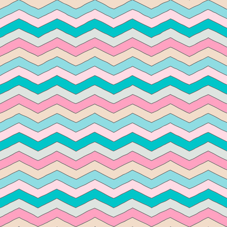 Geometric multicolor chevron or zig zag seamless pattern for textile and backgrounds.