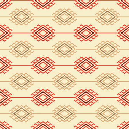 scandinavian: Russian, ukrainian and scandinavian national knit styled pattern, pastel colors Illustration