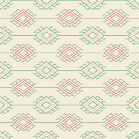 Russian, ukrainian and scandinavian national knit styled pattern, pastel colors Illustration