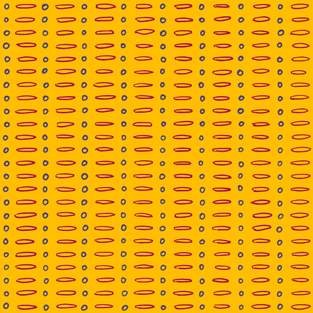 Simple dot and dash sunny pattern, seamless vector background