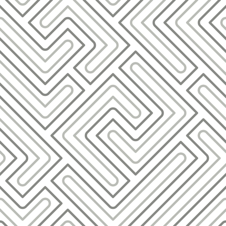Seamless abstract pattern with gray geometric lines