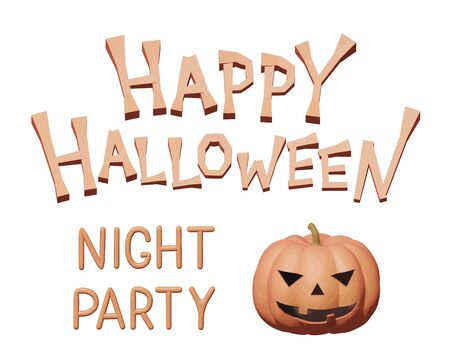 Plasticine vector illustration of orange monster pumpkin for Halloween party. Handmade 3d shape graphic for happy Halloween, scary holiday flyer. Isolated concept for night party, creative invitation.