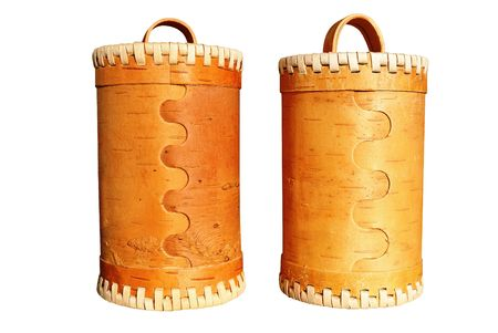 homeware: birch bark - the traditional Russian material for the manufacture of home-ware