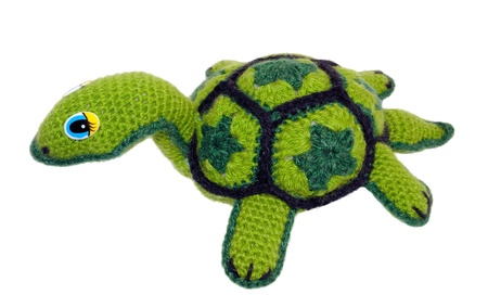 Soft toy turtle. Authors work master of needlework.
