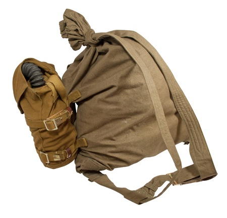duffle: A duffel bag (or duffle bag, kit bag, gym bag) is a large cylindrical bag made of cloth  with a drawstring closure at the top.